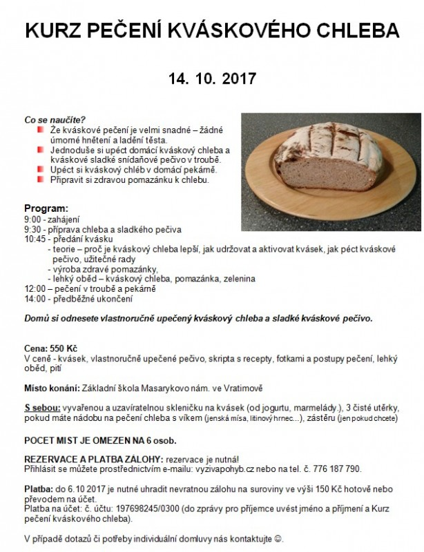 Novinka Kváskové pečení 10_2017