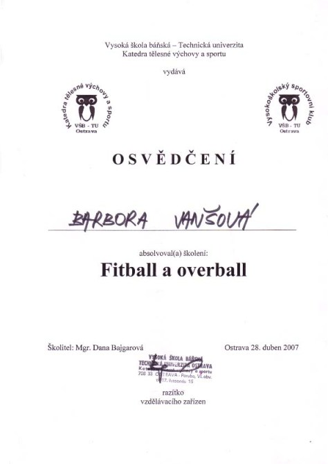 Fitball a overball